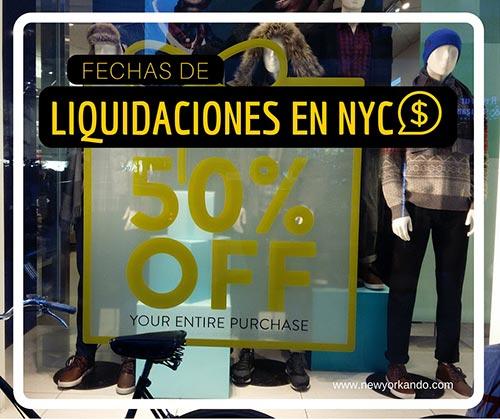 Fechas de liquidaciones en Nueva York - Guía Newyorkando - Foto de Andrea Hoare