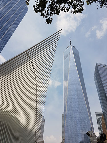 Vista del Oculus y el One World Trade Center - Foto de Andrea Hoare Madrid