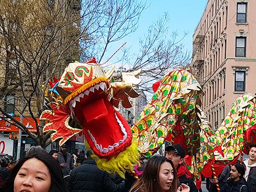 ¿Qué hacer en invierno en Nueva York? Ir a la celebración del Año Nuevo Chino en Chinatown - Foto de AHM
