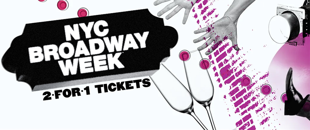 Captura de pantalla de la promoción oficial de la Broadway Week de Nueva York https://es.nycgo.com/broadway-week