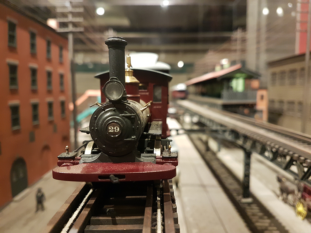 Maqueta de un antiguo tren elevado en Manhattan - Museo del Tránsito en Brooklyn - Foto de Andrea Hoare Madrid