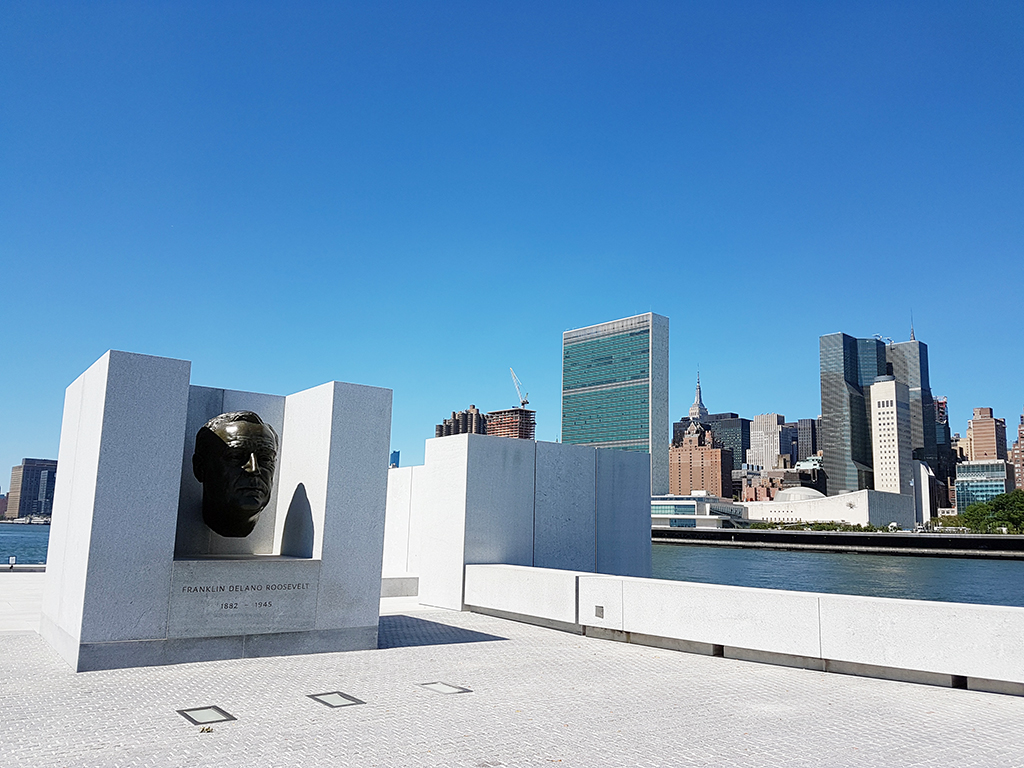 Monumento a Franklyn Delano Roosevelt en el Four Freedoms Park en Roosevelt Island - Foto de Andrea Hoare Madrid
