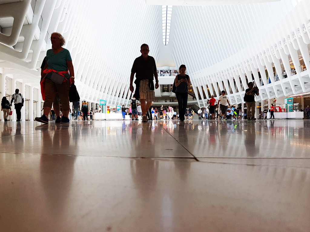 World Trade Center Transportation Hub: interior del Oculus de Calatrava - Guía transporte a New Jersey desde Nueva York - Foto Andrea Hoare Madrid