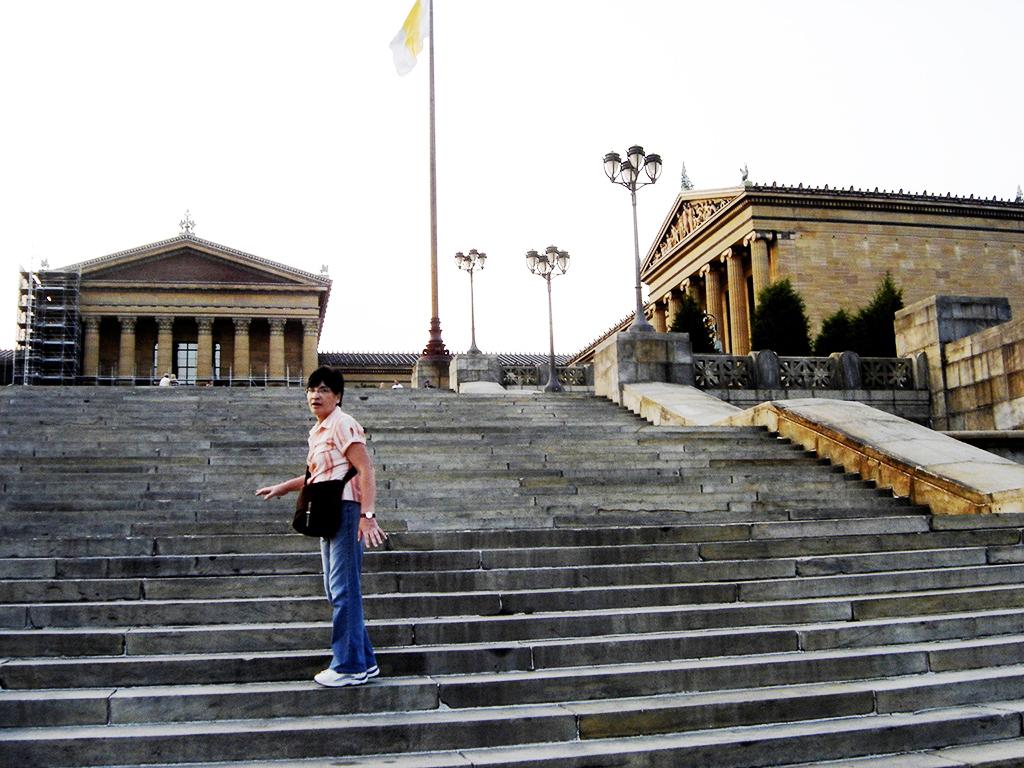 Escalones de Rocky (escaleras del Museo de Arte de Filadelfia) - Foto de AHM