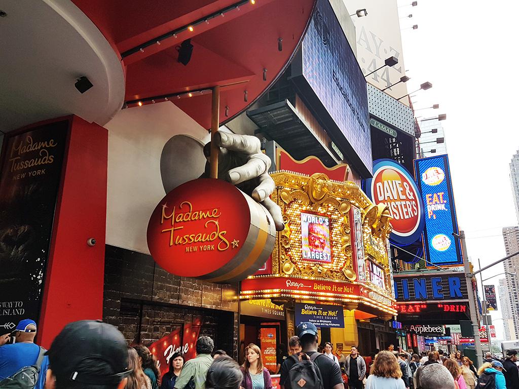 Entrada al Museo Madame Tussauds en Times Square, Manhattan - Foto de AHM