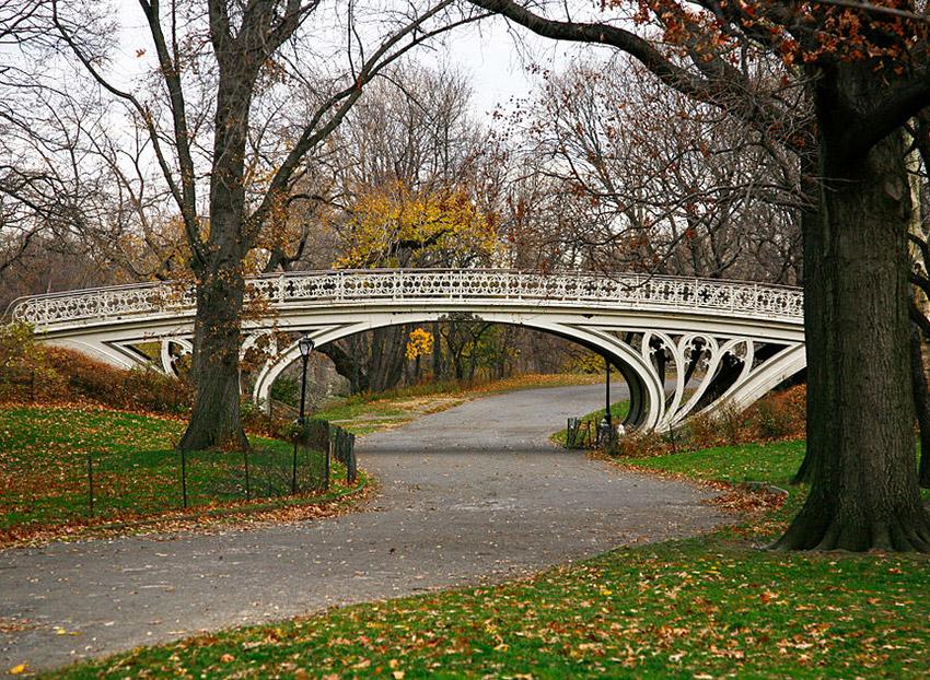 Foto del Gothic Bridge de Bryan Schorn / CC BY-SA (https://creativecommons.org/licenses/by-sa/3.0) vía Wikimedia, disponible en https://commons.wikimedia.org/wiki/File:Gothic_Bridge_of_Central_Park_December_2010.jpg