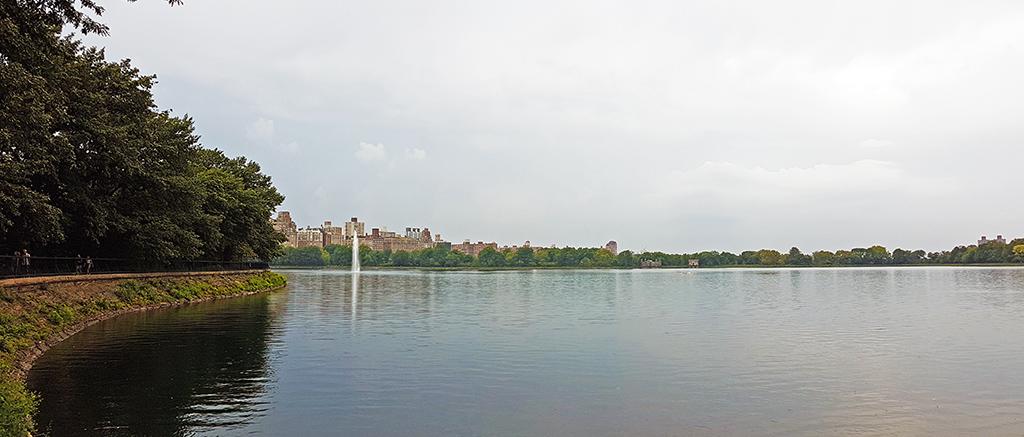 Panorámica del Jacqueline Kennedy Onassis Reservoir de Central Park - Foto de AHM