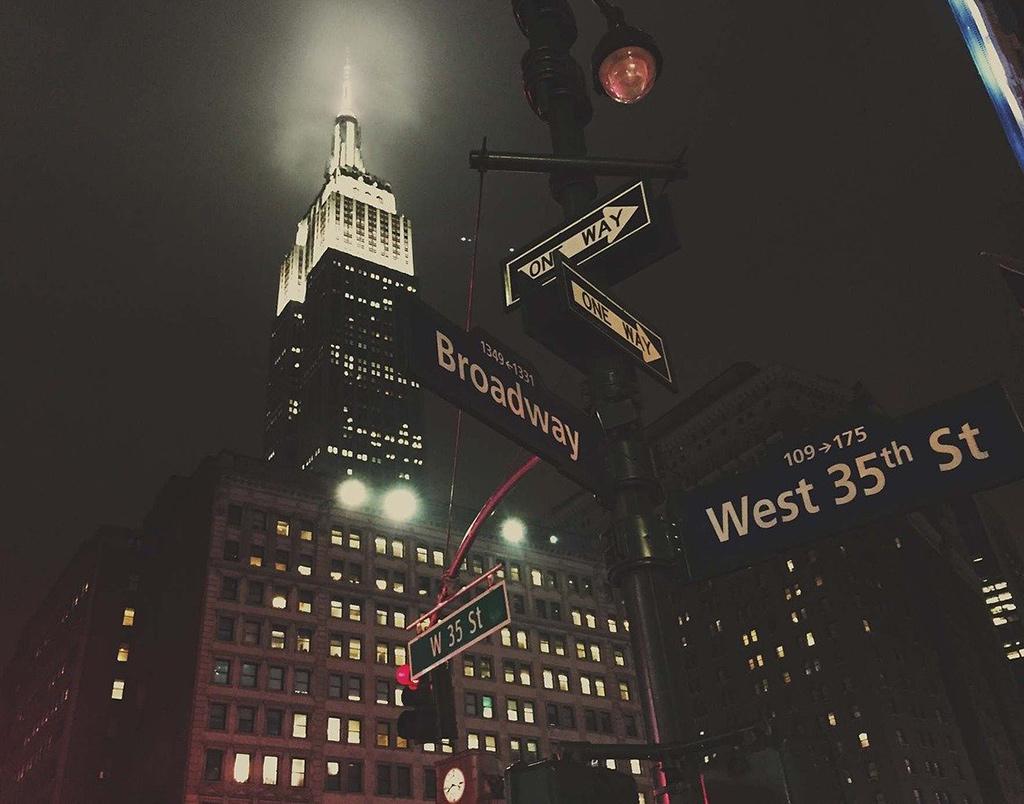 Empire State iluminado visto desde la intersección de las calles Broadway y 35 - Foto de StockSnap, Dominio Público, vía Pixabay disponible en https://pixabay.com/es/photos/empire-state-building-arquitectura-926893/