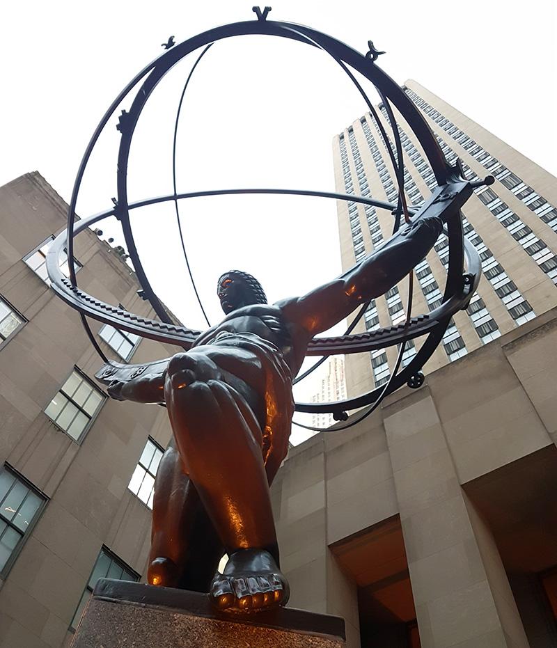 Escultura del Atlas del Rockefeller Center - Foto de Andrea Hoare Madrid