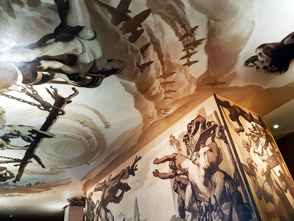 Mural del catalán José María Sert en el Lobby del Rockefeller Center, sustituyendo el mural original de Diego Rivera. Foto de AHM