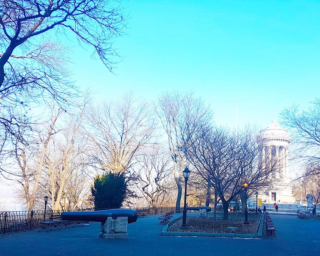Riverside Park en Upper West Side en invierno - Foto de AHM