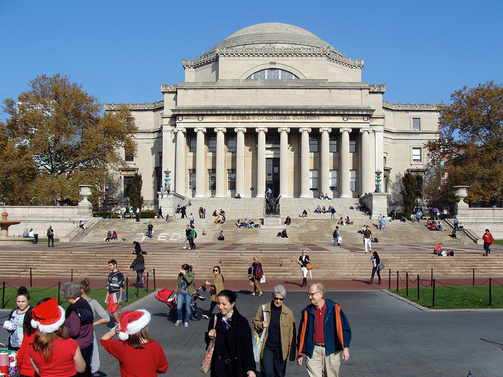 Frontis de la Universidad de Columbia en el Upper West Side de Manhattan - Foto de AHM