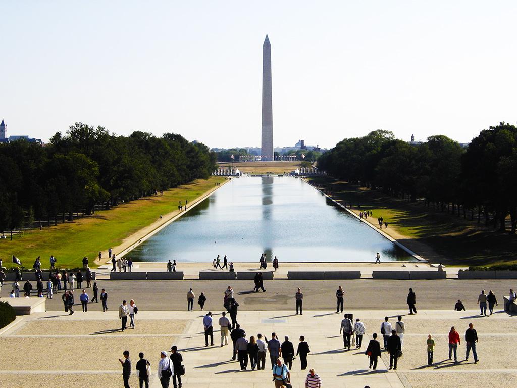 National Mall y Obelisco visto desde el Monumento a Lincoln - Foto de AHM