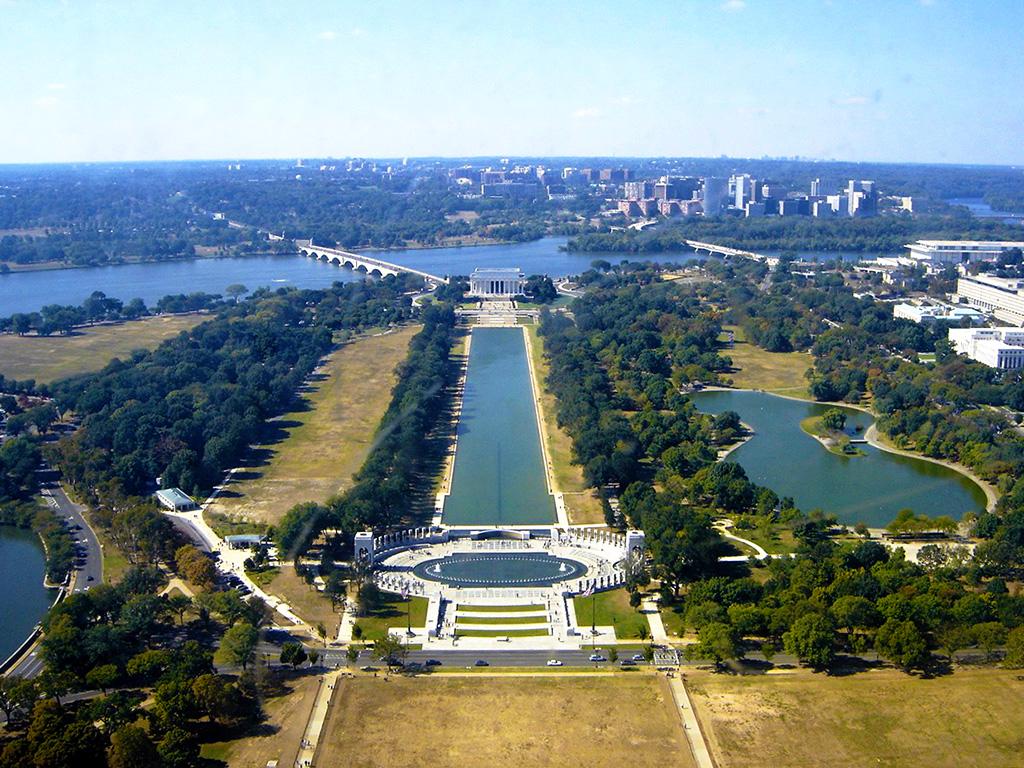 Panorámica de Washington DC desde el mirador del obelisco (monumento a Washington) - Foto de AHM