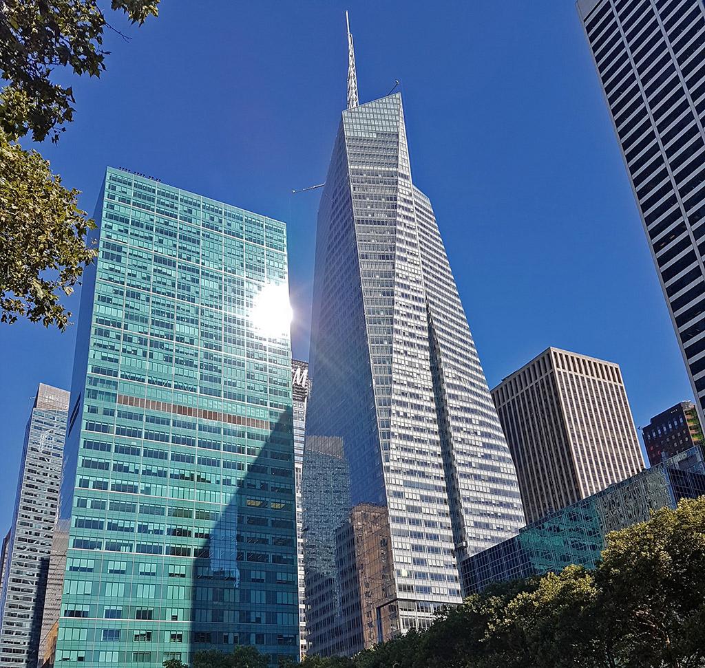 Bank of America Tower vista desde Bryant Park - Foto de Andrea Hoare Madrid