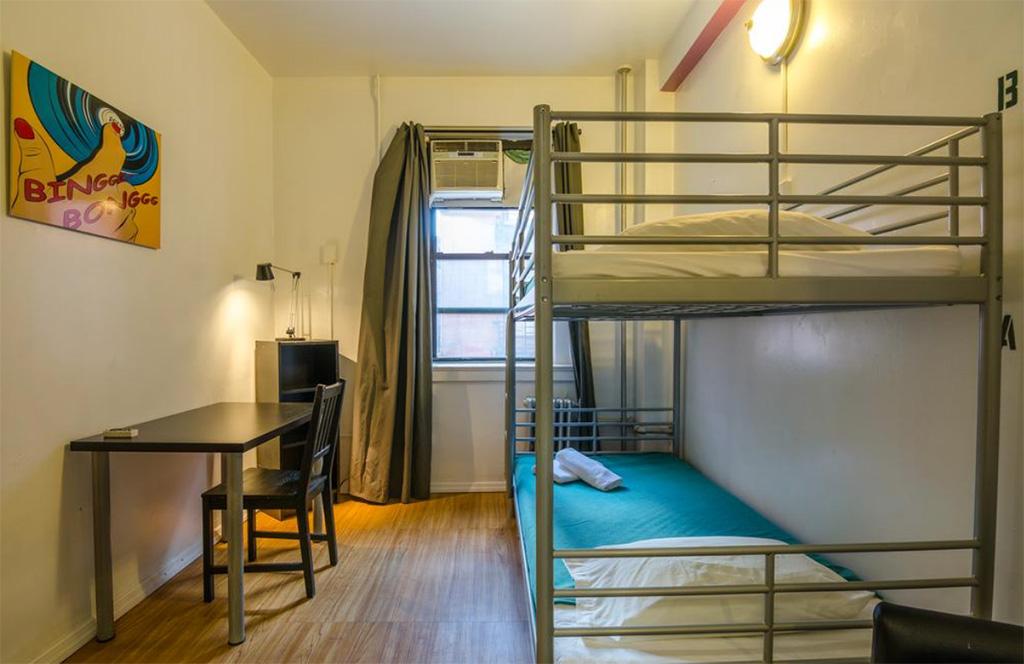 Foto de habitación doble del Hostal juvenil Jazz on the Park en Manhattan cortesía de Booking