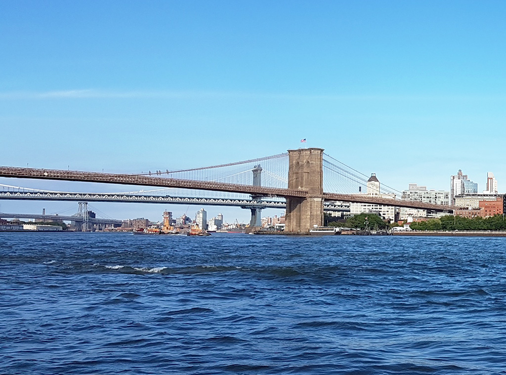 Puentes de Nueva York que unen Manhattan y Brooklyn: Brooklyn Bridge, Manhattan Bridge y Williamsburg Bridge - Foto de Andrea Hoare Madrid