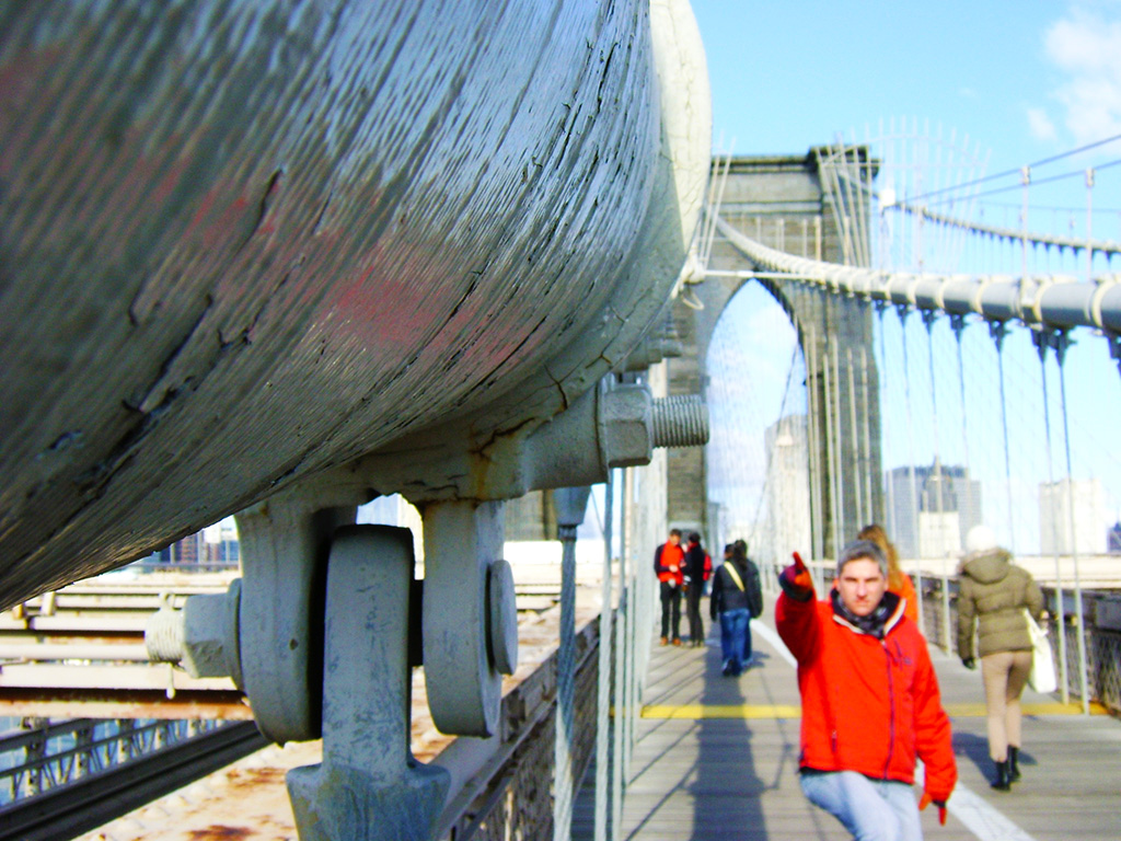Detalle de la estructura del Puente de Brooklyn - Foto de AHM