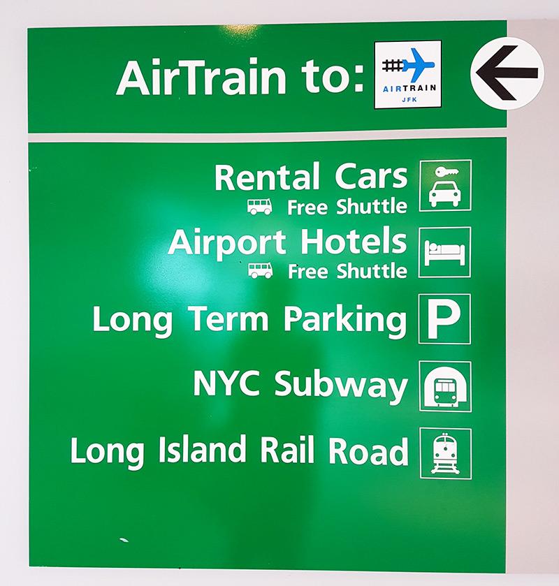 Señalización del Airtrain en JFK - Foto de AHM