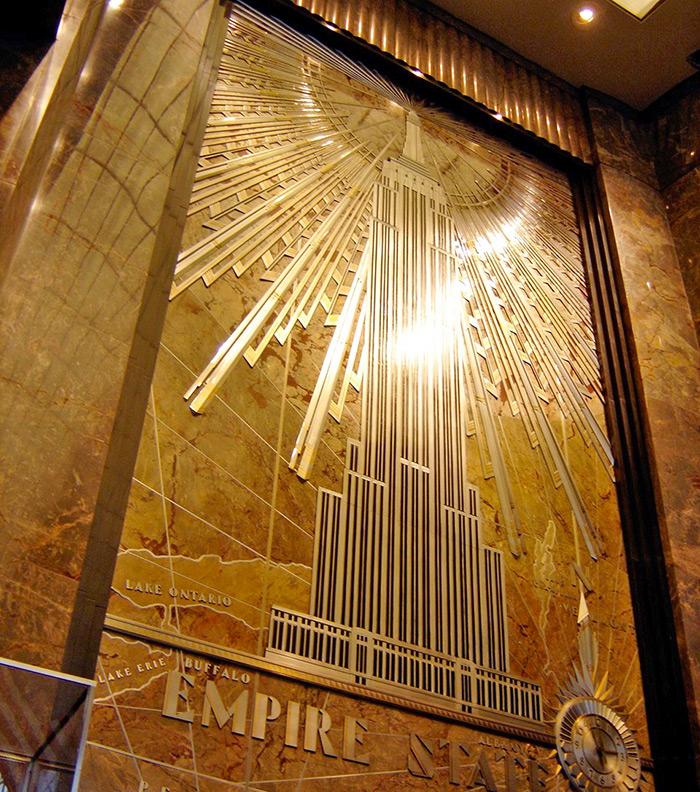 Decoración art deco del lobby del Empire State - Foto de AHM