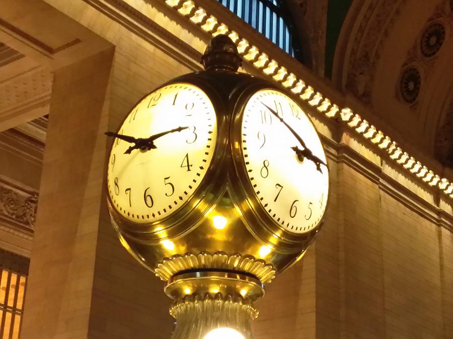 Ball Clock, icónico reloj de 4 caras del Main Concourse de la Estación Central de Trenes de Nueva York - Foto de AHM