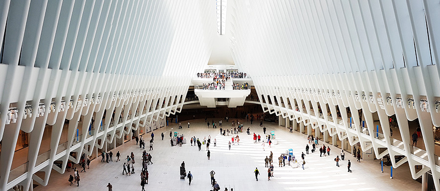 Lobby principal del Oculus de Calatrava (World Trade Center Transportation Hub) - Foto de Andrea Hoare Madrid