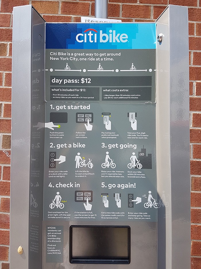 Máquina automática de Citibike, el servicio de alquiler de bicicletas públicas de la ciudad de Nueva York - Foto de AHM