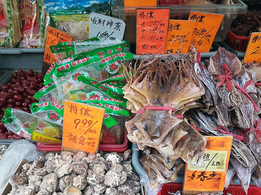 Productos exóticos en una tienda del Chinatown de Manhattan - Foto de Andrea Hoare Madrid