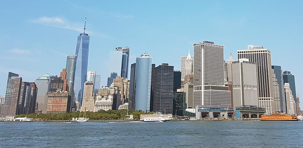Lower Manhattan visto desde el ferry a la Isla de los Gobernadores - Foto de Andrea Hoare Madrid
