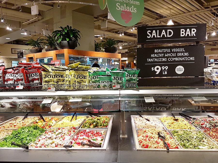 Salad Bar de Whole Foods Market - New York - Comida por peso - Foto de Andrea Hoare Madrid