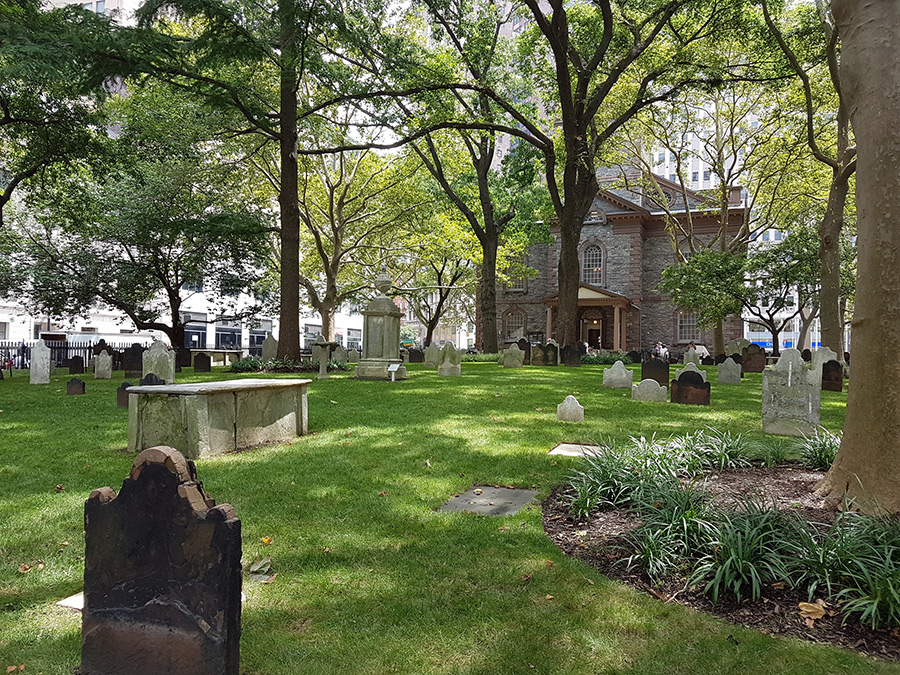 Cementerio de la Capilla de Saint Paul, World Trade Center Manhattan- Foto de Andrea Hoare Madrid