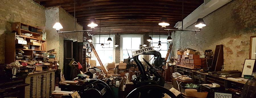 Bowne & Co Stationers - interior de la tienda perteneciente al Museo del Puerto South Street de Manhattan - Foto de Andrea Hoare Madrid