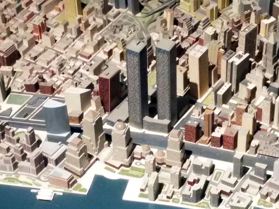 Vista de las Torres Gemelas en el Panorama de Nueva York del Museo de Queens - Foto de Andrea Hoare Madrid