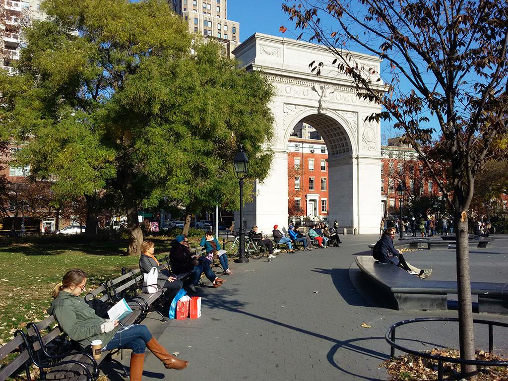 Washington Square, centro de reunión en Manhattan - Foto de Andrea Hoare Madrid