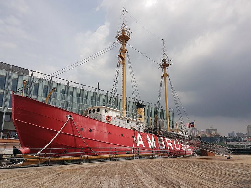 Buque Faro Ambrose parte de la colección del South Street Seaport Museum - Foto de Andrea Hoare Madrid