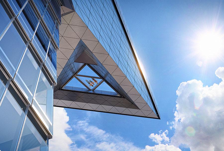 Suelo de cristal de la Terraza del Mirador Edge en Hudson Yards cortesía de Related Oxford disponible en los materiales de prensa y medios de Edge NY https://related.app.box.com/s/wq8738106e1iyhansyc4s541pia6yg0f/file/540590825984