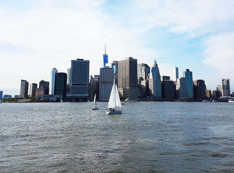 Sur de Manhattan visto desde el ferry a Governors Island - Foto de Andrea Hoare Madrid