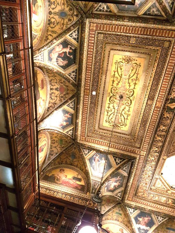 Techo de la Biblioteca Morgan - Foto de Andrea Hoare Madrid