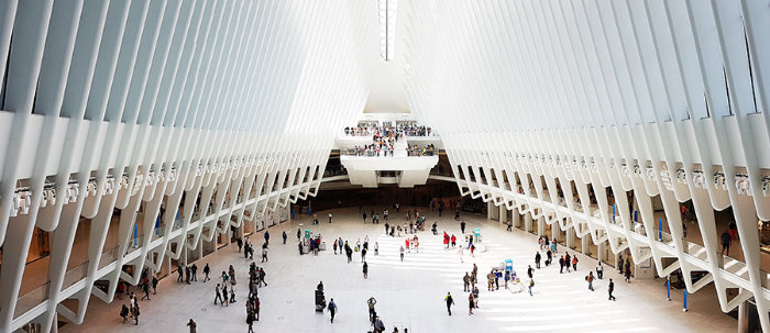 Lobby principal del Oculus de Calatrava (World Trade Center Transportation Hub) - Foto de Andrea Hoare Madrid