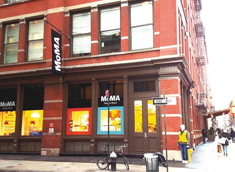Fachada de la MoMA Design Store en SoHo - Foto de Andrea Hoare Madrid