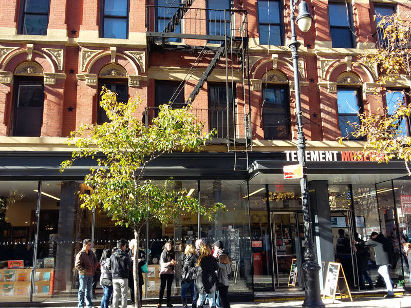 Entrada a la tienda y boletería del Tenement Museum en el Lower East Side de Manhattan - Foto de AHM