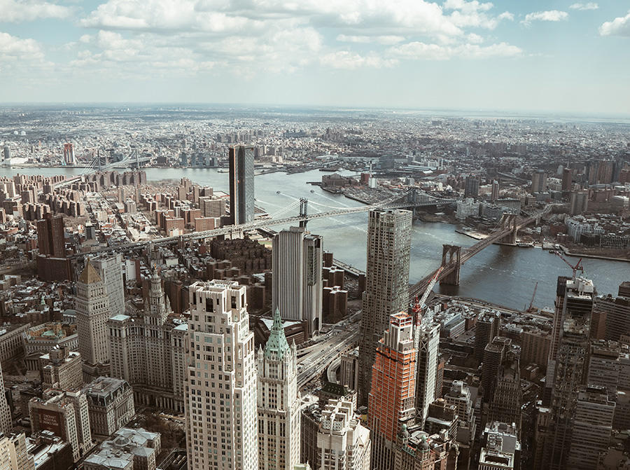 Vista del Puente de Brooklyn desde el mirador del OneWTC - Foto de Mathias Arlund en Unsplash