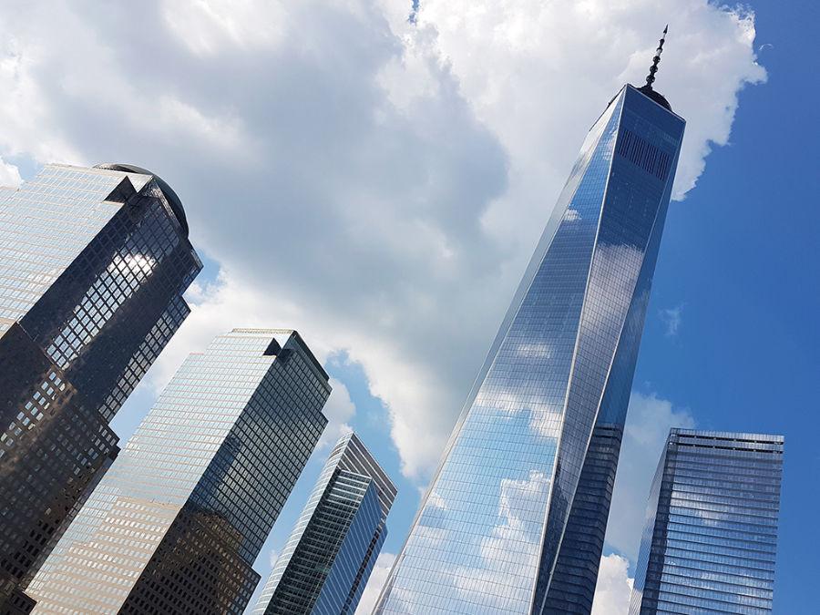 Edificios de la zona del World Trade Center, OneWTC a la derecha - Foto de Andrea Hoare Madrid - El One World Trade Center tiene uno de los miradores de nueva york más importantes: la plataforma de observación más alta